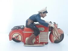 RARE GAMA Police Motorcycle 126 con composito poliziotto, U.S ZONE GERMANY look.