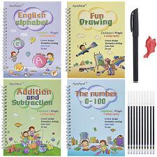 Número de magia práctica los cuadernos Inglés Libro Set writin Rockets Pluma Reutilizable