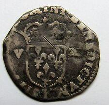 Belle monnaie - 1/8 d'écu - Louis XIII - 161? K - Bordeaux -