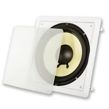 "Acoustic Audio Hd-S10 Flush Mount Passive Subwoofer In Wall with 10"" Speaker"
