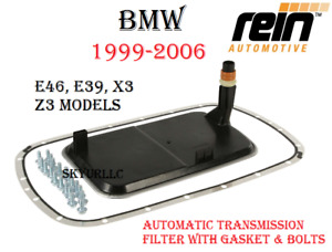 BMW Auto Trans Filter With Gasket And Oil Pan Bolts Kit for 99-06 E46 E39 X3 Z3