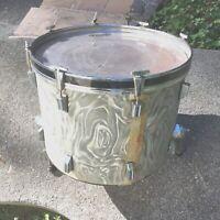 "Vintage MIJ 17"" x 16""  Utility  Base Drum, Silver"