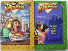 Three Investigators 2 Lot Bullseye paperbacks Screaming Clock Haunted Mirror 1st