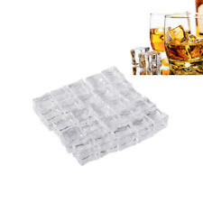 25pcs Fake Artificial Acrylic Ice Cubes Crystal Barwar Home Display Decor 2.5cm