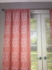 "New Eclipse Coral Paloma Curtain Panel 37"" x 63"" Rod Pocket"