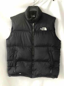 North Face Men's Black Puffer Vest - Size 2XL
