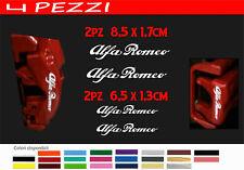 ADESIVI PINZE FRENO ALFA ROMEO 147 GT  STICKERS GIULIETTA MITO  4 pz