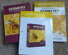 Jacobs Geometry SET Textbook, Solutions Manual, Teacher Guide W/ tests
