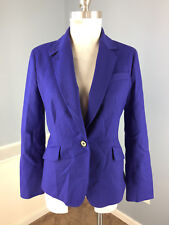 Talbots S 6 Wool Blend Royal Blue Blazer Schoolboy Career Cocktail Excellent