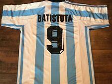 1998 Argentina Batistuta No 9 Football Shirt Large Camiseta Maglia Trikot