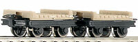 Roco 34607 Güterwagenset 2x Brückenloren H0e