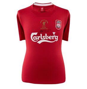Steven Gerrard Signed Liverpool Shirt - Istanbul 2005 Champions League Winners