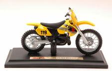 Suzuki RM250 #119 Cross Yellow Motocross 1:18 Model 359Y MAISTO