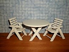 Town Square Miniatures #T7173 Table W//4 Chairs Pecan Wicker