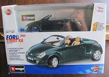 1/24 Burago Bburago #59181 2003 Ford Street KA convertible diecast metal kit MIB