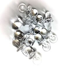25 X CLEAR Dummy Charms / Dummy Pendants 31mm, Baby Showers, Pram Charms