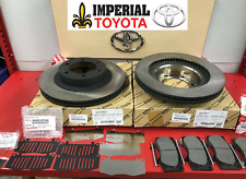 2003-2009 TOYOTA 4RUNNER GENUINE OEM FRONT BRAKE ROTORS TCMC PADS AND SHIMS 17""