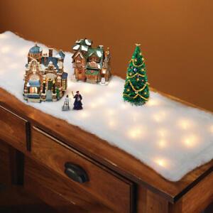 Winter Wonderland Pillow Of Snow Lighted Christmas Table Runner