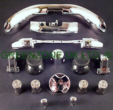 Custom Xbox 360 Controller Bullet Buttons ABXY +TRIM +Full Mod Kit Silver Chrome
