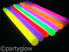 "100 X 6"" X 10mm Glow Sticks Fiesta Festival Rave Glow Sticks Light Stick Glostick"