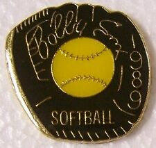 Hat Lapel Pin sports Bobby Sox Softball Glove NEW