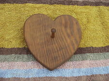 Heart Valentine Shaped Pine Wood Plaque With Peg For Hanging