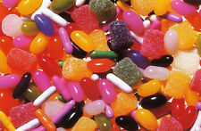 """MIXED SWEETS"" Jelly Beans Gum Drops Licorice BOXLESS Jigsaw Puzzle *NEW*"