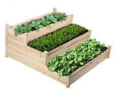 Raised Garden Bed Planter, Box Kit Wooden Sturdy Elevated Brown Outdoor Garden
