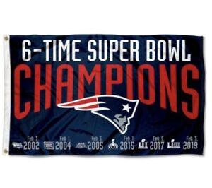 New England Patriots Flag Banner 3x5 Ft NFL Football Super Bowl Champion Sports