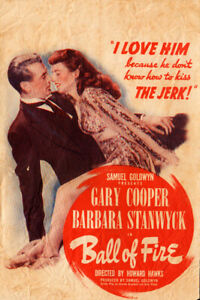 Ball of Fire Original Movie Herald from the 1941 Movie