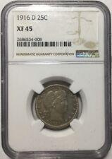 1916-D 25c Barber Quarter NGC XF45
