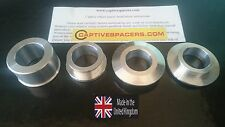Kawasaki ZX10 ZX10R 2006- 2010 Superbike captive wheel Spacers. Silver.