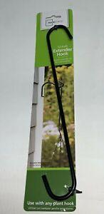 "Mainstays 12"" S Hook Extender Black Iron Hang Plants Wind Chimes Feeder NEW"