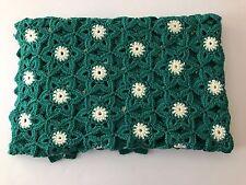 "Vintage Crochet Handmade GRANNY SQUARE AFGHAN Star Shape Blanket Throw 48""x 60"""