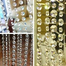3.3FT Wedding Acrylic Garland Diamond Crystal Bead Chandelier Hanging Decoration