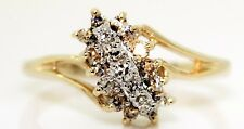 STUNNING 14K YELLOW GOLD RING WITH 0.25 CTW DIAMONDS! 3.2 GRAMS