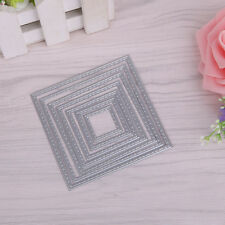 7 Pcs Square Metal Cutting Dies Stencils Set DIY Scrapbook Album Paper Card Set