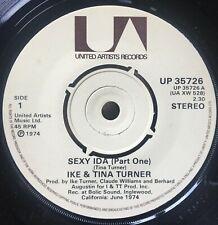 "Ike & Tina Turner - Sexy Ida (Part One) UK 1974 7"" United Artist Recs"