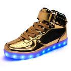 Unisex Hombre Mujer Zapatillas deporte LED Carga USB Zapatos Sport Shoes Sneaker