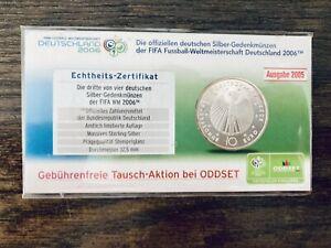 +++ 10 Euro Silber Münze - FIFA Fußball-WM 2006 Deutschland +++