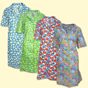 Femmes Robe de Chambre Peignoir de Bain avec Boutons Халат Из Ситца