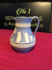 "Wedgwood Pale Blue Jasper Ware Etruscan Jug 5.5"""