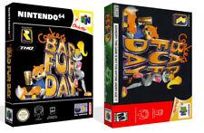 Conker's Bad Fur Day N64 Juego de reemplazo cubierta estuche caja + obras de arte (sin Juego)