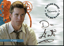 CHARMED POWER OF 3 AUTOGRAPH CARD A12 OF DAN GAUTHIER AS CRAIG