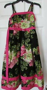 Girl's JENNY & ME Pleated Floral EASTER/ SUMMER Dress - Size 16