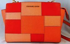 Michael Michael Kors Selma Medium Multicolor Pachwork Leather Messenger Bag