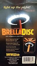 BrellaDisc 2 Panel Patio Umbrella Light Circle, 24 LEDs
