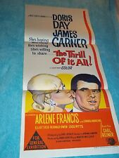 The Thrill of It All Original  Insert Poster Doris Day James Garner 1963