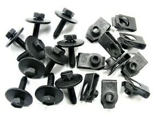 Body Bolts & U-nut Clips- M6-1.0 x 25mm Long- 10mm Hex- 20 pcs (10ea)- LD#146