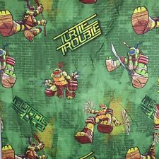 Nickelodeon Teenage Mutant Ninja Turtles TMNT Flat Twin Sheet Fabric Crafts